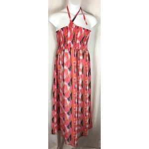 Fashion Bug full length smocked halter dress